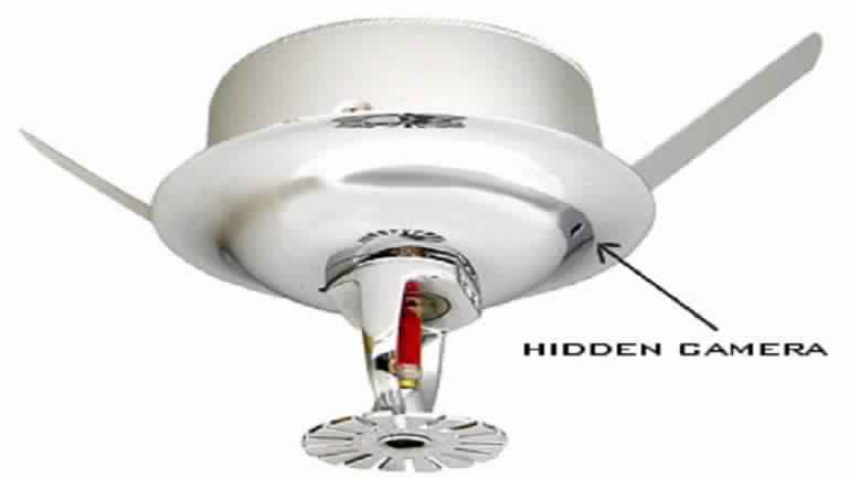 Hidden Camera in Sprinkler Head